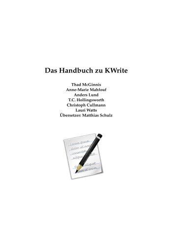 Das Handbuch zu KWrite - KDE Documentation
