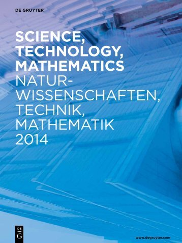 Download New Publications Catalog Science ... - Walter de Gruyter