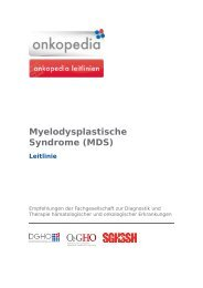 Myelodysplastische Syndrome (MDS) - Leitlinie - Onkopedia