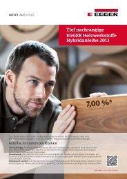 tief nachrangige EGGER Holzwerkstoffe Hybridanleihe 2013