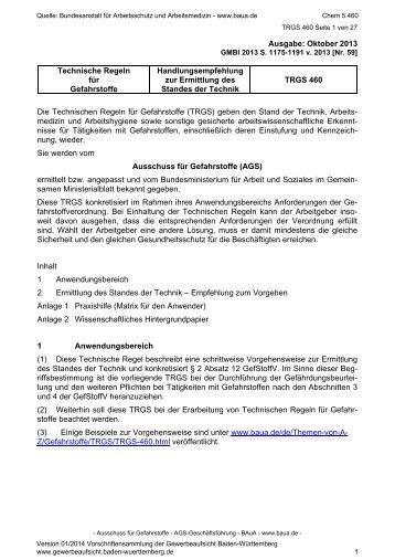 5.460 - Gewerbeaufsicht - Baden-Württemberg