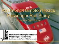 Phasing Scenario - Hampton Roads Transportation Planning ...