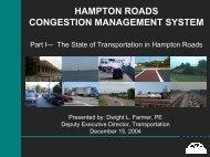 HAMPTON ROADS CONGESTION MANAGEMENT SYSTEM