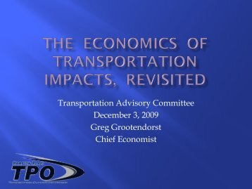 The Economics of transportation impacts, revisited
