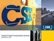Virginia Freight Transportation Summit
