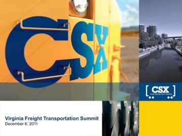 Virginia Freight Transportation Summit