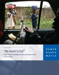 """""""My Heart is Cut"""" - Human Rights Watch"""