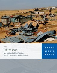 Off the Map - Human Rights Watch