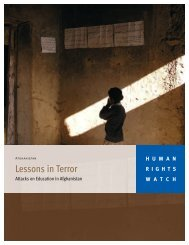 Lessons in Terror - Human Rights Watch