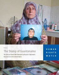 The Stamp of Guantanamo - Human Rights Watch