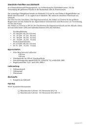 Ausschreibungstext Standrohr-Filtersammler