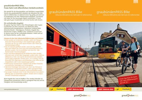 graubündenPASS Bike graubündenPASS Bike - RhB