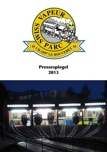 Pressespiegel 2013 - Swiss Vapeur Parc