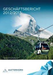 GEsCHäfTsBERiCHT 2012/2013. - Gadmin.ch
