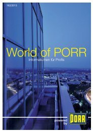 Informationen für Profis - World of PORR - PORR AG