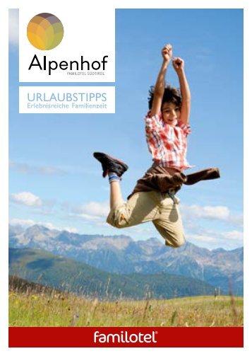 Alpenhof Urlaubstipps