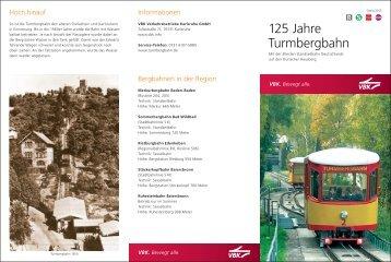finden Sie den Jubiläumsflyer der Turmbergbahn - KVV - Karlsruher ...