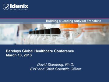Building a Leading Antiviral Franchise