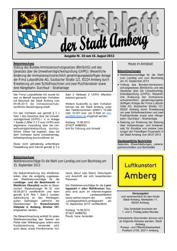 Nr. 16/2013 - Stadt Amberg