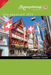Info Appenzell 2013 - Appenzellerland Tourismus
