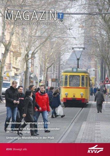 KVV-Magazin Nr. 71, April 2013 - KVV - Karlsruher Verkehrsverbund