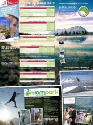 Sommerfolder 2013 - St. Johanner Bergbahnen - Tirol