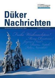 Düker Nachrichten Ausgabe Winter 2013 - Düker GmbH & Co KGaA