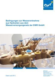 Bedingungen zur Wasserentnahme aus Hydranten, Stand ... - EWR