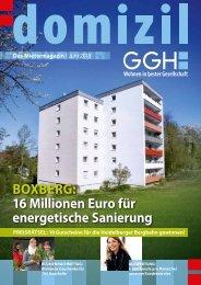 Domizil, Ausgabe Juni 2013 - GGH