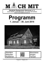 Programmheft 01/2014 zum Download - Harzklub Zweigverein ...