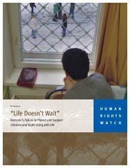 """Life Doesn't Wait"" - Human Rights Watch"
