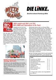 Mittenmang Juli 2013 - DIE LINKE. Bezirksverband Hamburg-Mitte