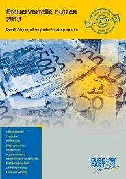 Steuervorteile nutzen 2013 - EUROPART - europart.de