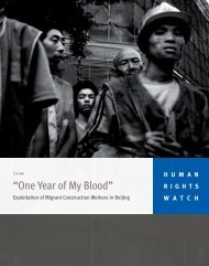 """""""One Year of My Blood"""" - Human Rights Watch"""