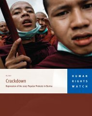 Crackdown - Human Rights Watch
