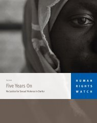 Five Years On: No Justice for Sexual Violence in Darfur