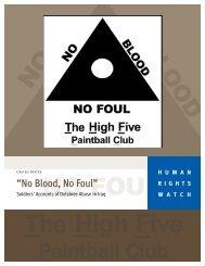 """No Blood, No Foul"" - Human Rights Watch"