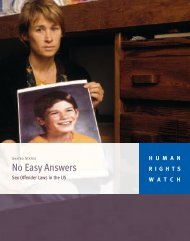 No Easy Answers - Human Rights Watch
