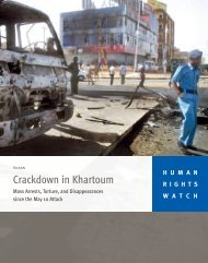 Crackdown in Khartoum - Human Rights Watch