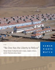 """""""No One Has the Liberty to Refuse"""" - Human Rights Watch"""
