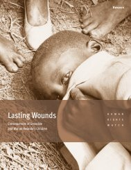 Lasting Wounds - Human Rights Watch