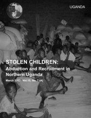 STOLEN CHILDREN: - Human Rights Watch