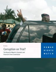 Corruption on Trial? - Human Rights Watch