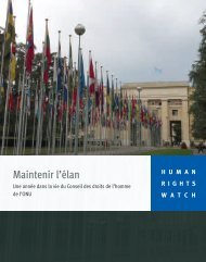 Maintenir l'élan - Human Rights Watch