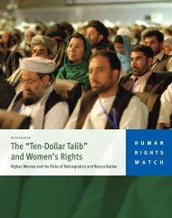 """The """"Ten-Dollar Talib"""" and Women's Rights - Human Rights Watch"""