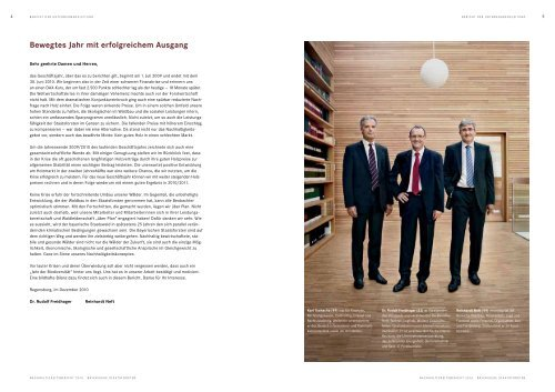 Nachhaltigkeitsbericht 2010 Bayerische Staatsforsten