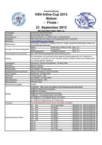 HSV IL Cup 2013-09-21 Ausschreibung - Ski-Club Bad Vilbel 1984 eV