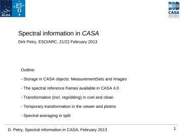 Spectral information in CASA - ESO