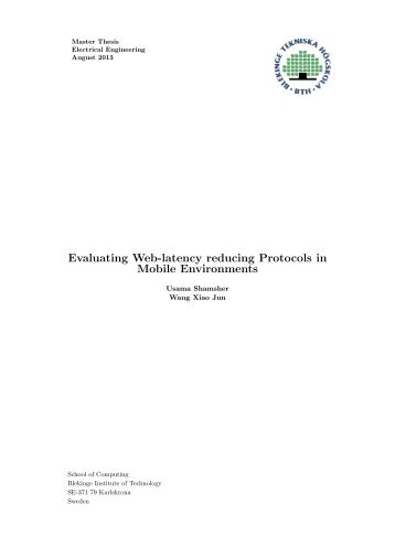 Evaluating Web-latency reducing Protocols in Mobile Environments
