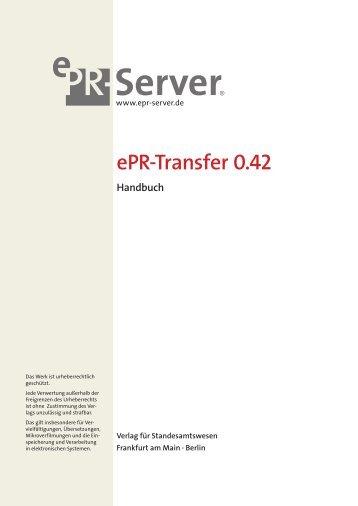 Handbuch ePR-Transfer 0.42 - Dataport